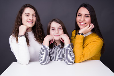 Family portrait of three sisters